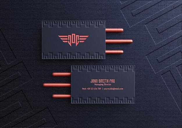 Luksusowa makieta wizytówki z efektem typografii