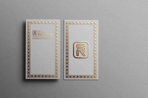 Luksusowa makieta wizytówki