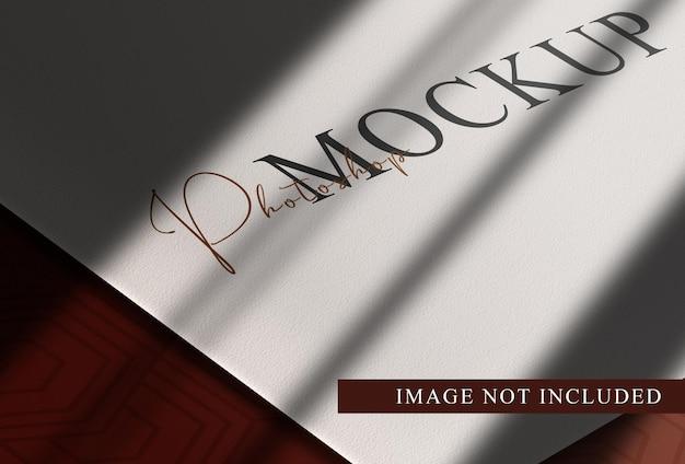 Luksusowa makieta z perspektywą papierową