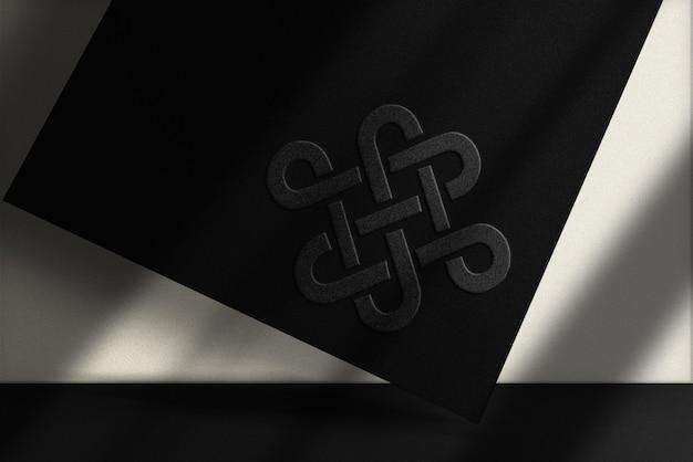 Luksusowa makieta z tłoczonego czarnego papieru