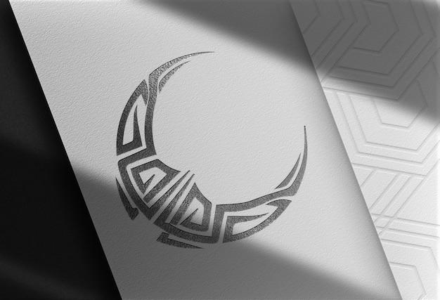 Luksusowa makieta z wytłoczonym logo półksiężyca