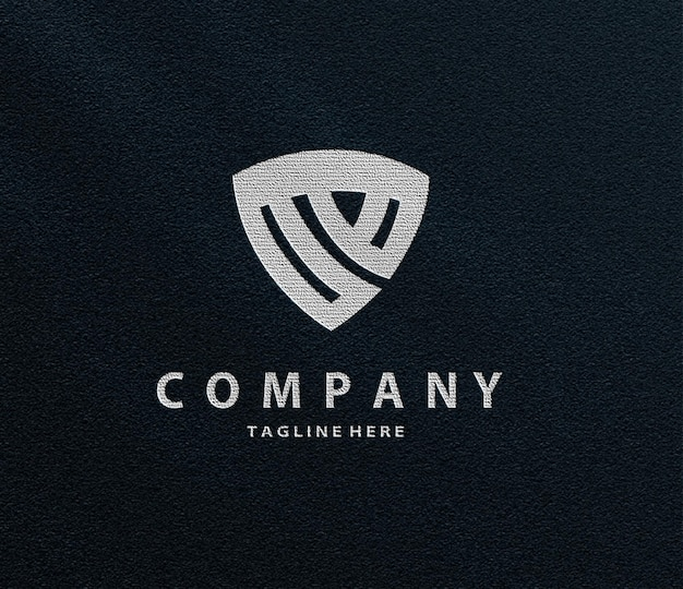 Luksusowa makieta z wytłoczonym metalicznym logo