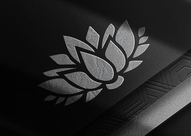 Luksusowa makieta z wytłoczonym papierem z lotosu srebrnego z widokiem perspektywicznym