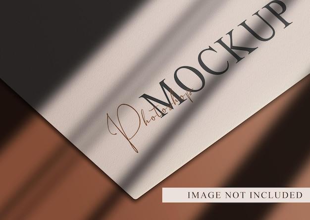 Luksusowa pusta makieta papieru