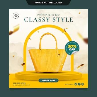 Luksusowa torba moda sprzedaż instagram szablon postu