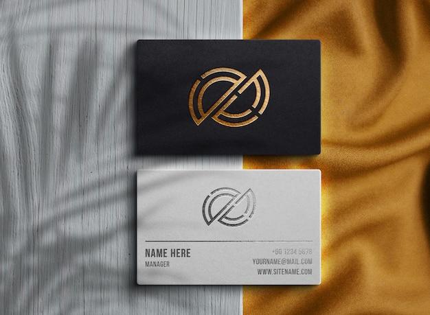 Luksusowa wizytówka makieta logo