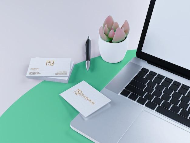 Luksusowa wizytówka teksturowana na makiecie białej księgi