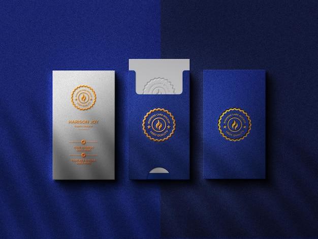 Luksusowa wizytówka z makietą logo