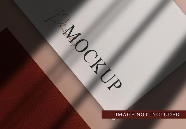 Luksusowe papiery makieta photoshop