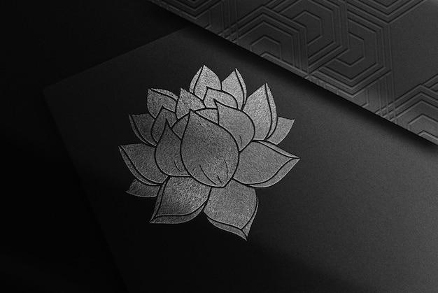 Luksusowe srebrne papiery z wytłoczonym lotosem