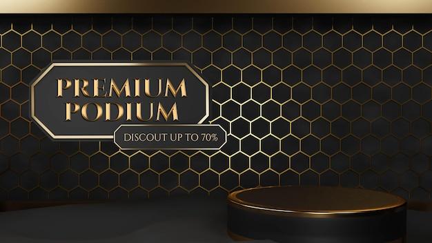 Luksusowe sześciokątne podium ornament