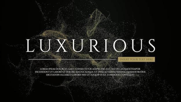 Luksusowe tło ze złotymi cząsteczkami