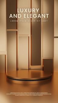 Luksusowy błyszczący geometryczny podium