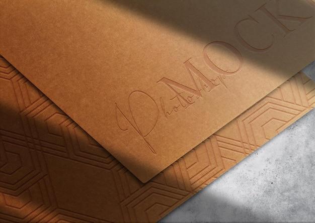 Luksusowy brązowy papier z wytłoczonym widokiem perspektywicznym