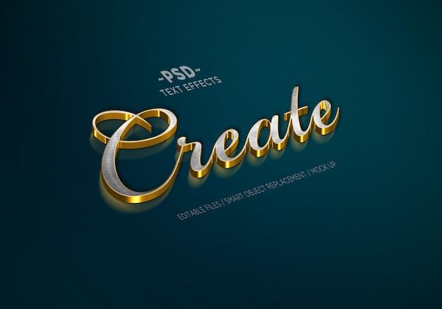 Luksusowy edytowalny efekt tekstowy w stylu srebrnego złota