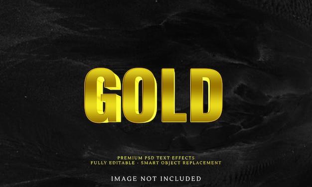 Luksusowy efekt złotego tekstu