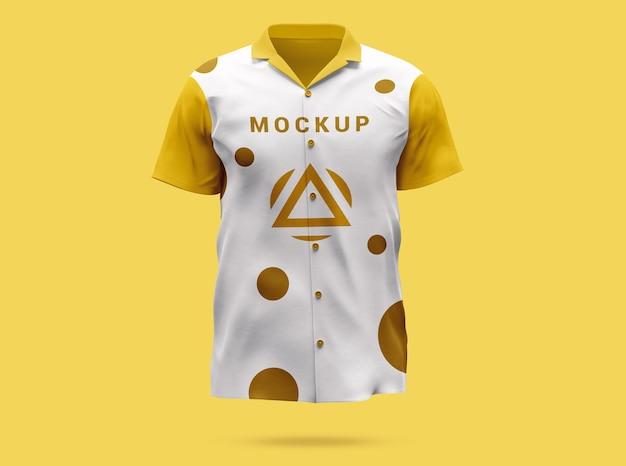 Luksusowy kolorowy projekt makiety tshirt