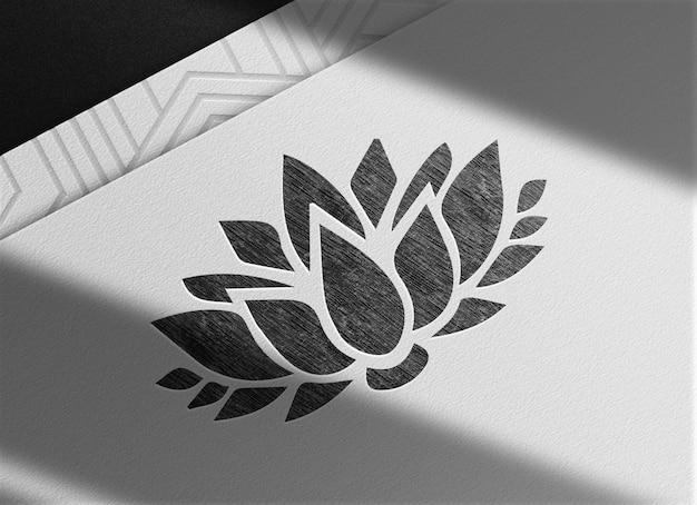 Luksusowy lotos narysowany makieta widoku perspektywicznego papieru ołówkowego