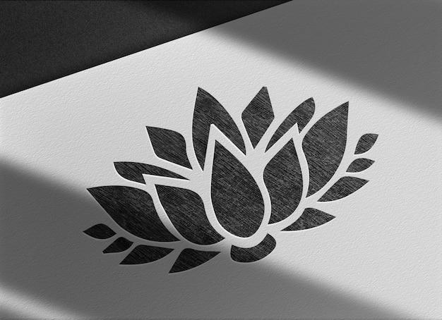 Luksusowy lotos narysowany w makieta widoku perspektywicznego ołówka