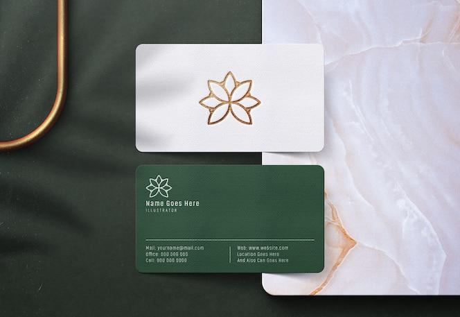 Luksusowy makieta logo na wizytówce
