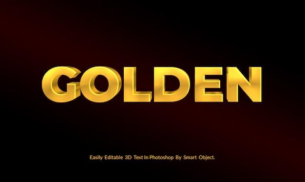 Luksusowy makieta złoty styl tekstowy 3d psd
