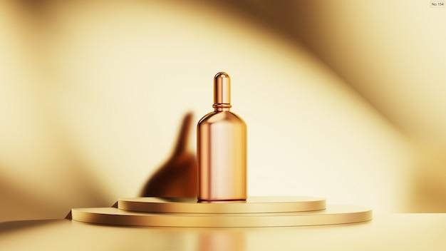 Luksusowy produkt na złotym podium scenicznym.