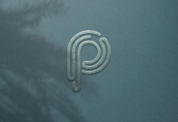 Luksusowy projekt makieta logo psd