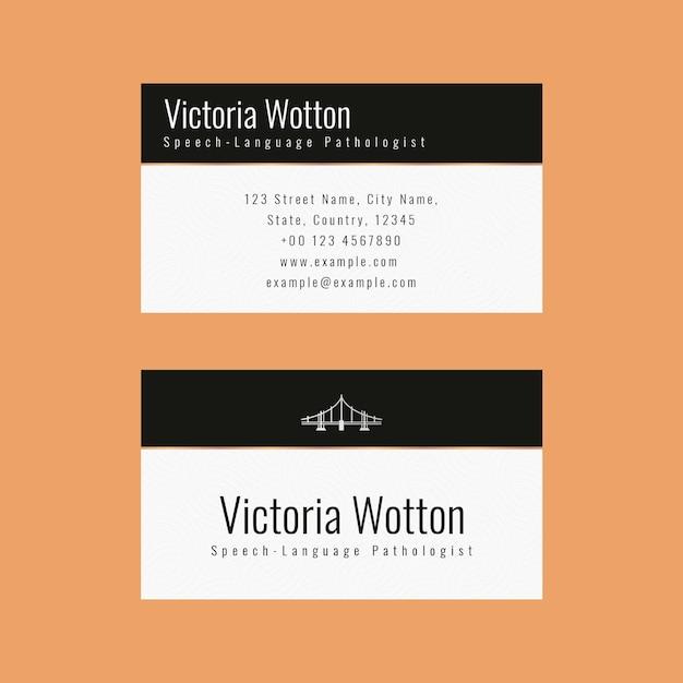Luksusowy szablon wizytówki psd w minimalistycznym stylu