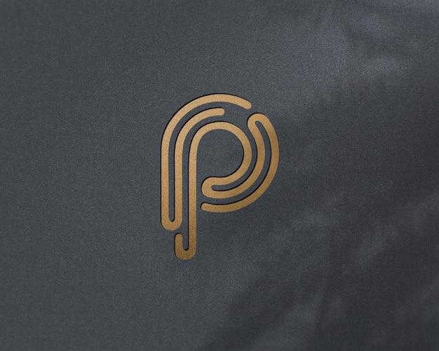 Luksusowy złoty projekt makieta logo psd