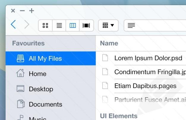 Mac zestaw aplikacji dla ios7 ui