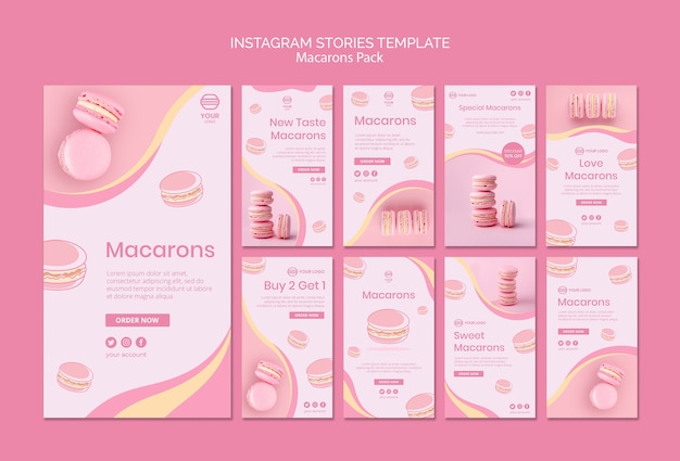 Macarons pakują historie na instagramie