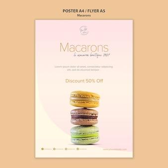 Macarons sprzedaż styl plakatu