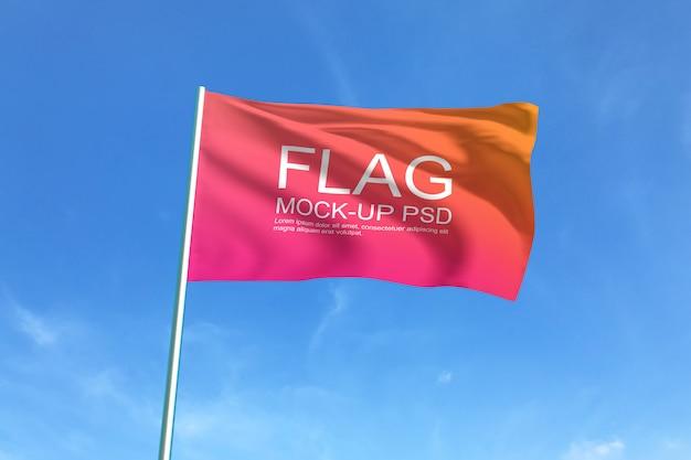 Macha flagą makiety