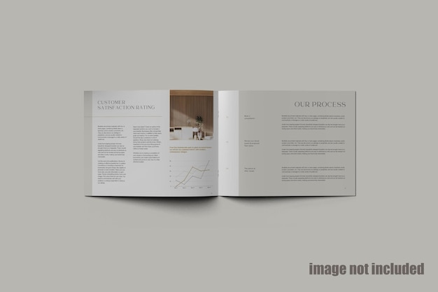 Magazyn krajobrazowy lub makieta katalogu