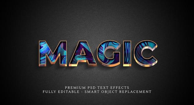 Magiczny efekt stylu tekstu psd, efekty tekstowe psd