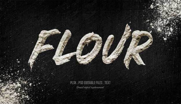 Mąka efekt stylu tekstu 3d