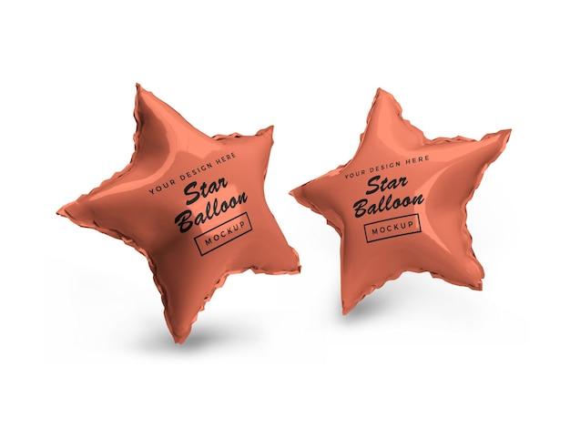 Makieta 3d balon foliowy z gwiazdą