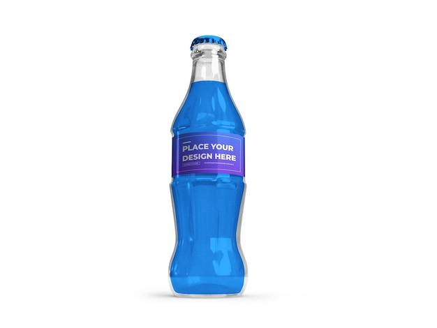 Makieta 3d butelki na napoje bezalkoholowe