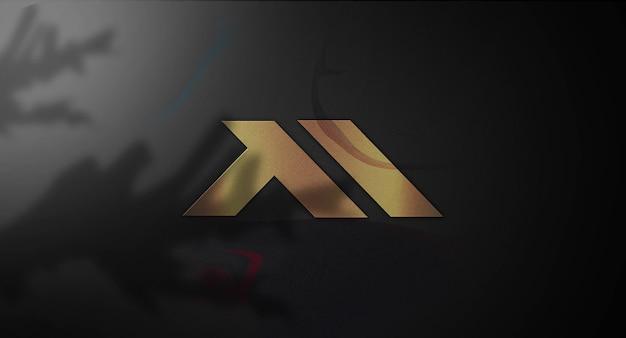 Makieta 3d logo w ścianie