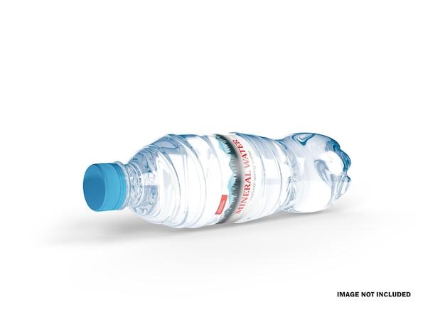 Makieta 3d plastikowej butelki na wodę