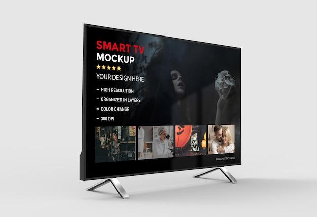 Makieta 3d smart tv na białym tle renderowania
