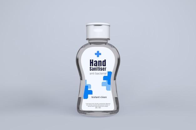 Makieta 3d żelu do dezynfekcji rąk na białym tle