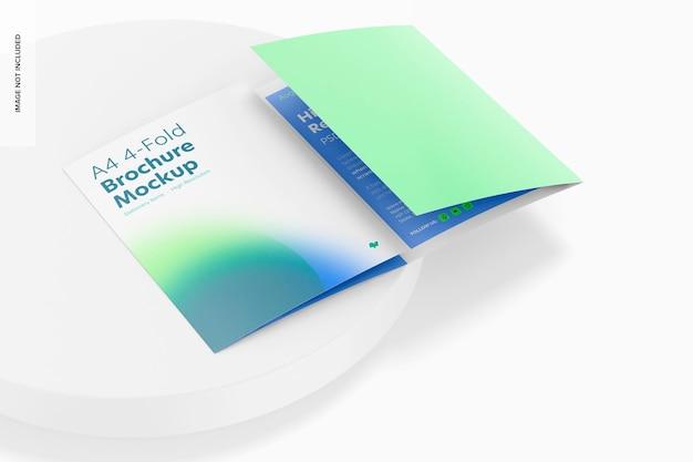 Makieta 4-krotnej broszury a4, perspektywa