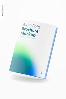 Makieta 4-krotnej broszury a4, pochylony