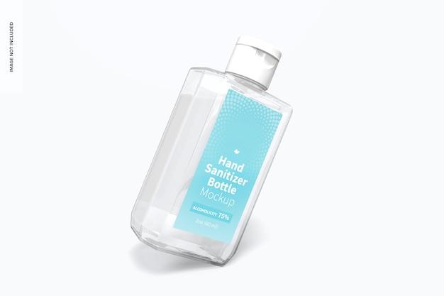 Makieta 60 ml butelki do dezynfekcji rąk, pochylona