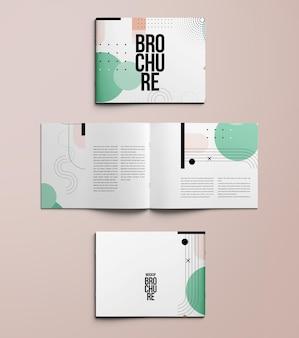 Makieta a4 broszura krajobrazowa na białym tle