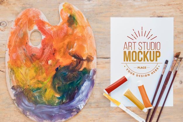 Makieta abstrakcyjna palety kolorów