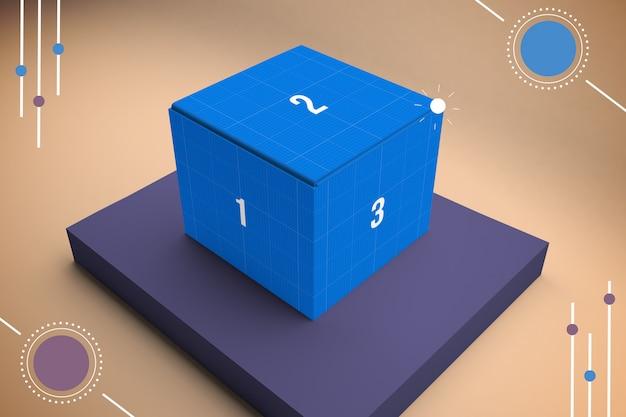 Makieta abstrakcyjne pudełko