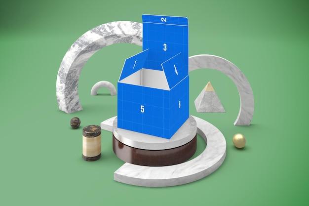 Makieta abstrakcyjnego pudełka
