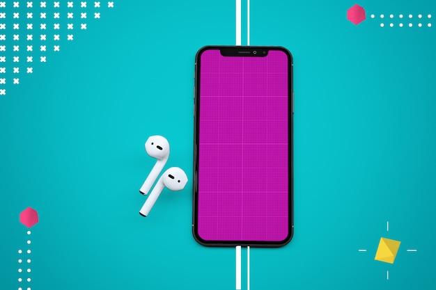 Makieta abstrakcyjnej aplikacji muzycznej